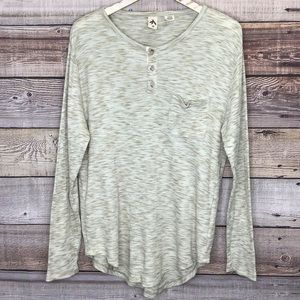 Anthropologie Three Feathers Thermal Tee M